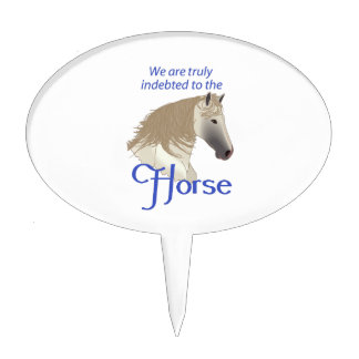 INDEBTED TO THE HORSE CAKE TOPPERS