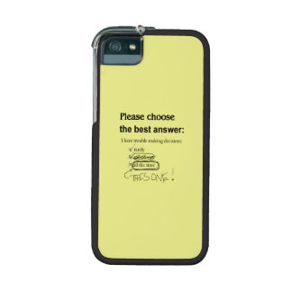 Indecisive Multiple Choice Questions iPhone 5/5S Covers