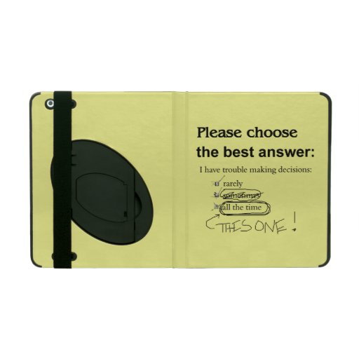 Indecisive Multiple Choice Questions iPad Covers