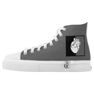 Indelible Hightop Shoe Printed Shoes