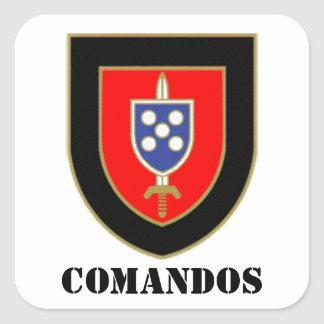 Indentification badge Commands Square Sticker