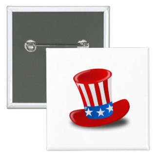 Independence Day 15 Cm Square Badge