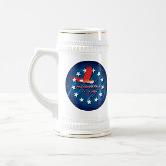 Independence Day 18 Oz Beer Stein