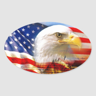 Independence Day 4 july Oval Sticker
