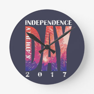Independence DAY & 4th July USA Round Clock