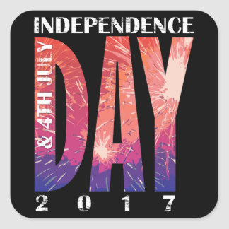 Independence DAY & 4th July USA Square Sticker