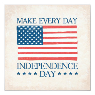 Independence Day 4th of July Family BBQ Card
