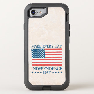 Independence Day 4th of July Retro OtterBox Defender iPhone 8/7 Case