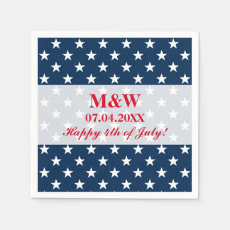Independence Day 4th of July wedding party napkins Disposable Serviettes