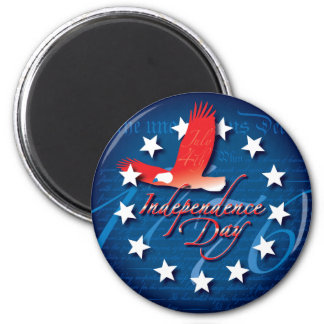 Independence Day 6 Cm Round Magnet