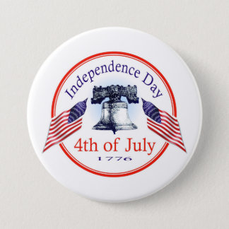 Independence Day 7.5 Cm Round Badge