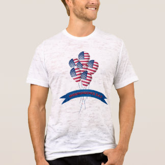 Independence Day Balloons Burnout T-Shirt