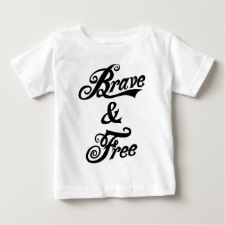 independence day  brave and free black baby T-Shirt