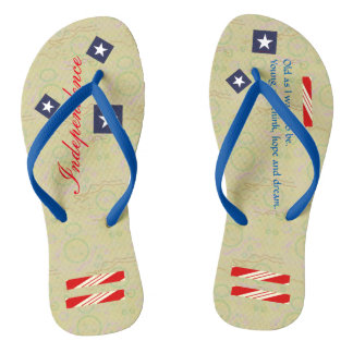 Independence Day Carmel Paper Thongs