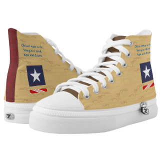 Independence Day Carmel Printed Shoes