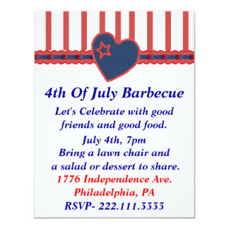 Independence Day Custom Party Invitation