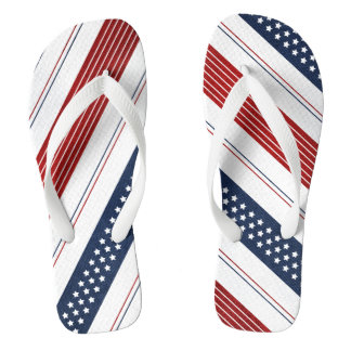 Independence Day Diagonal Stars and Stripes Thongs