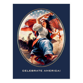Independence Day. Fine Art Customizable Postcards
