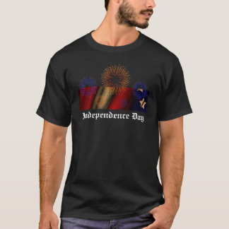 Independence Day Fireworks & FLag T-Shirt