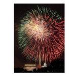 Independence Day Fireworks over Washington DC Postcard