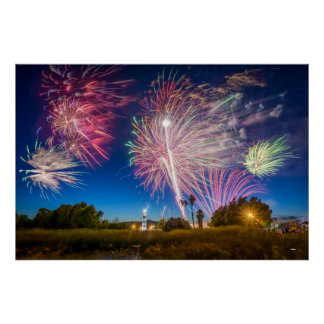 Independence Day Fireworks - Suisun City, CA Poster
