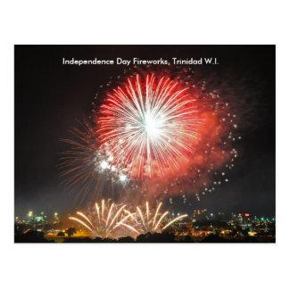 Independence Day Fireworks, Trinidad Postcard