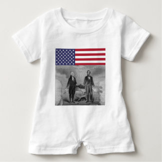 Independence Day George Washington Abraham Lincoln Baby Bodysuit