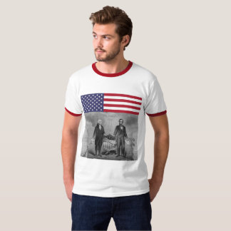 Independence Day George Washington Abraham Lincoln T-Shirt