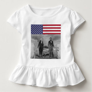 Independence Day George Washington Abraham Lincoln Toddler T-Shirt