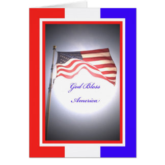 Independence Day Greeting Card - God Bless America