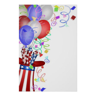 Independence Day Happy 4th of July Illustration Po Poster