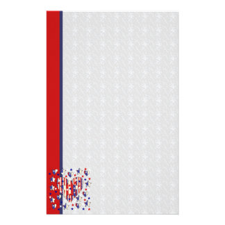 Independence Day Hearts Personalized Stationery