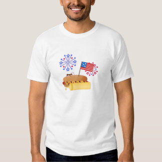 Independence Day Hotdog T Shirt