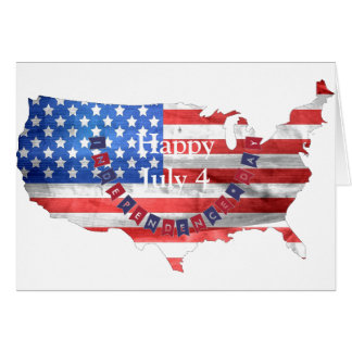 Independence Day July 4 American Flag USA Country Greeting Card