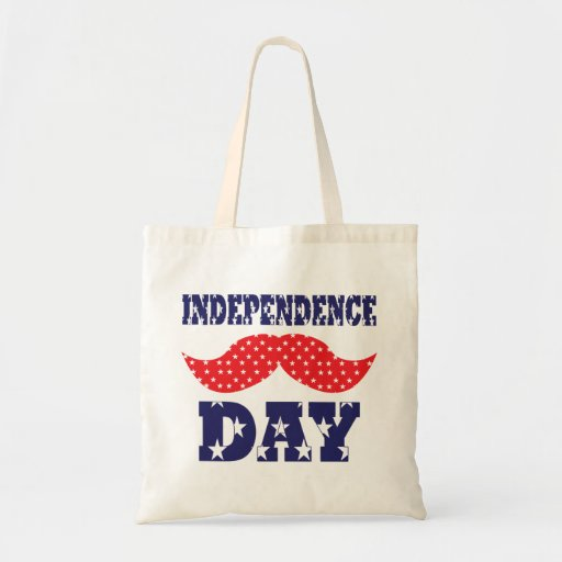 Independence Day Moustache Canvas Bag