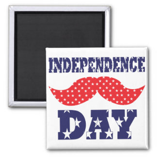 Independence Day Moustache Fridge Magnets