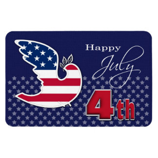 Independence Day. Patriotic Gift Magnet Rectangle Magnets