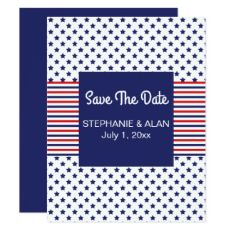 Independence Day Patriotic Wedding Card