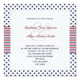 Independence Day Patriotic Wedding Invitation