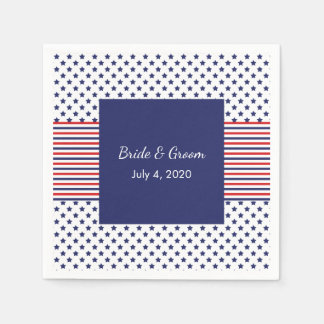 Independence Day Patriotic Wedding Paper Napkins