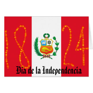 Independence Day Peru Card