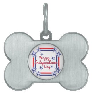 Independence Day Pet Name Tags