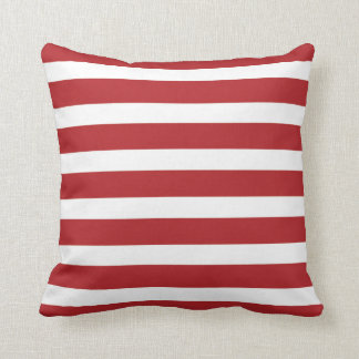 Independence Day Red and White Stripes Cushion