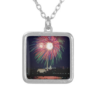 Independence-Day Silver Plated Necklace