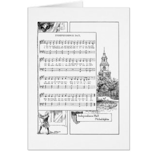 Independence Day Song and Music Card