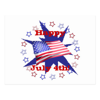 Independence Day Star Circle Postcard
