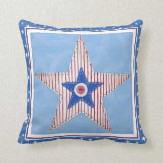 Independence day star pillow cushions