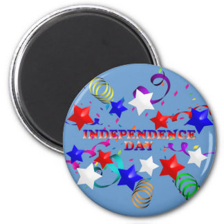 Independence Day Stars and Confetti Magnet