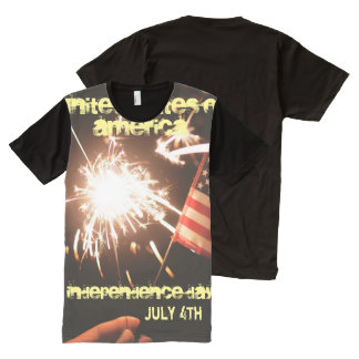 Independence Day, USA All-Over Print T-Shirt