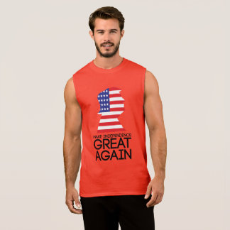 Independence day w/ Donald Trump Sleeveless Shirt